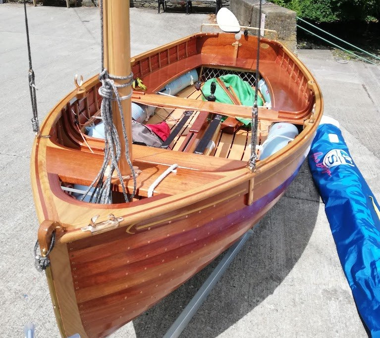 A new International 12 foot dinghy this year in Ireland by Rui Ferreira of Ballydehob