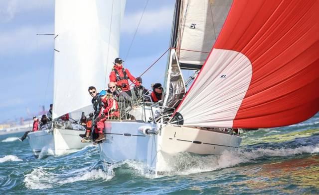 ISORA Class one competitor Platinum Blonde, a First 35, skippered by Royal St George Yacht Club's Paul Egan