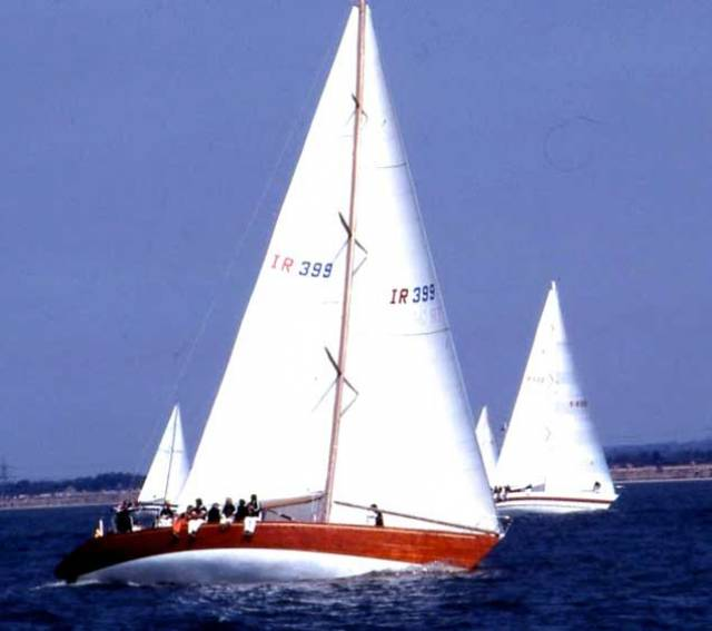 Denis Doyle's Moonduster in her prime, as she was between 1981 and 2001 – designed by German Frers Jnr, built by Crosshaven Boatyard, and with sails by McWilliam of Crosshaven