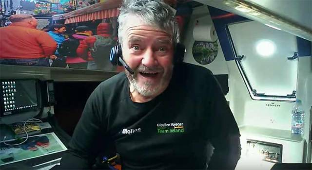 The irrepressible and always entertaining Enda O Coineen talks to the world from his Imoca 60 Kicullen Voyager during the Vendee Globe, which he plans to complete early next year after being dismasted off New Zealand. He'll be spilling the beans on everything that happened, and what happens next, in Westport on Wednesday December 20th.