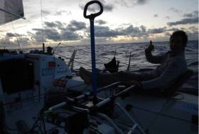 County Meath's Tom Dolan has less than 700 miles to sail to the finish in the Caribbean island of St Barts having set sail from Concarneau in France on April 22, and currently lie tenth