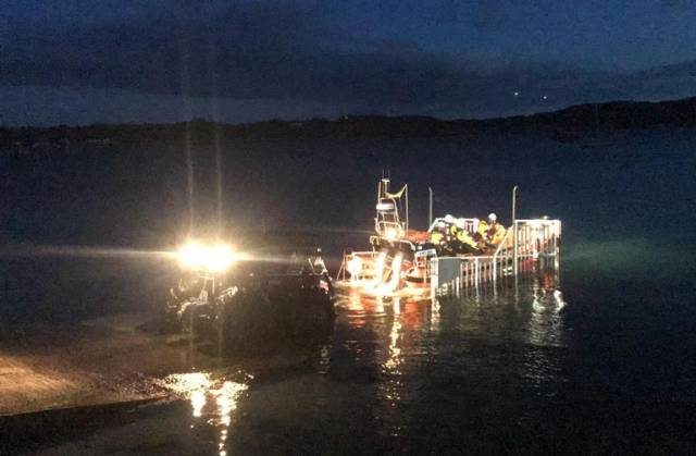Clifden RNLI returning to shore after last night's launch