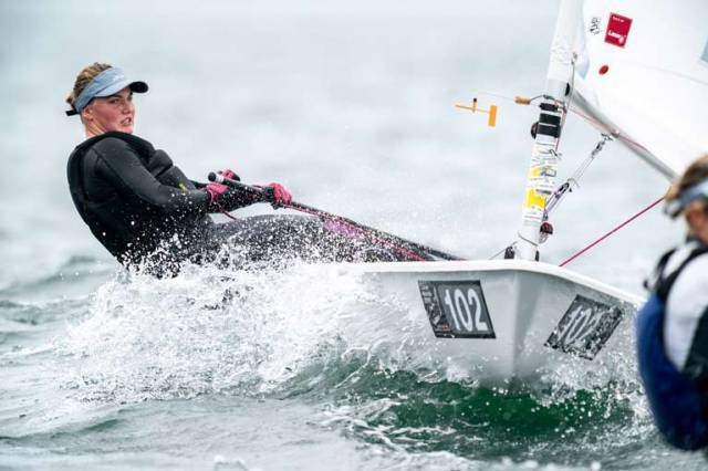 Aoife Hopkins (Howth, Co. Dublin) moved up a place after the penultimate day's racing to 41st place in Japan