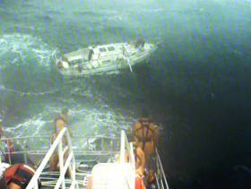 Castletownbere RNLI rescues a lone yachtsman during a 12-hour mission at sea