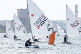 Jamie McMahon leading in Cork Harbour