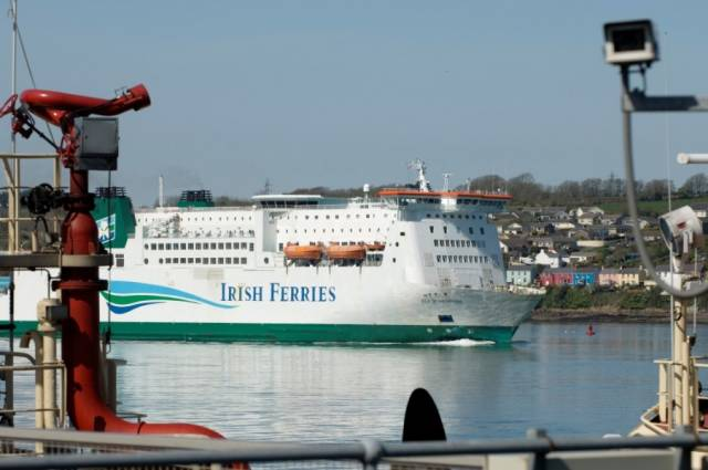 One of the ports included in the joint €2.6m 4-year project of Irish-Welsh ports is Milford Haven in south Wales where AFLOAT adds the ferry from Rosslare, Isle of Inishmore is seen off Neyland on the Welsh estuary while approaching Pembroke.