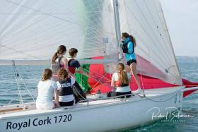 Royal Cork's Under 25 Keelboat Academy, members of which will race two boats in Cork Week regatta
