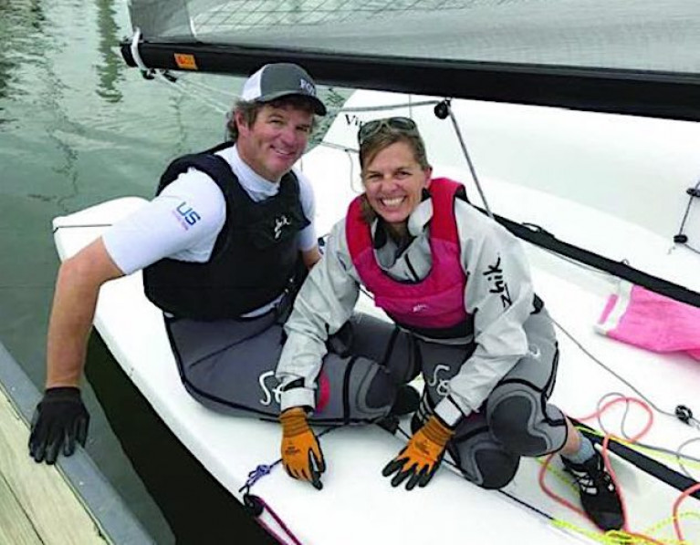 Irish Commodore's Cup sailor Geoff Ewenson with his wife Mary