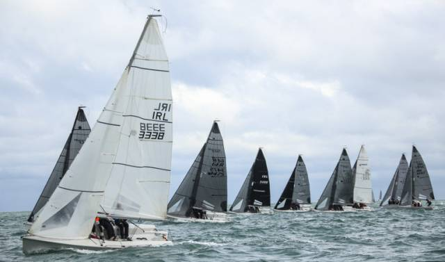 A typically shifty and unsettled westerly breeze confounded and frustrated many competitors