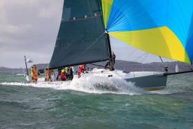 The winds have been shaping up in optimum style to suit fast reachers, so Andrew Hall's J/125 Jackknife from Pwllheli became a last minute entry for the Dingle Race, bringing the fleet up to 44 boats