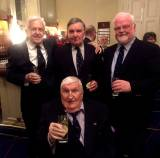 The legendary Dave FitzGerald (foreground) celebrates his 90th birthday with old Galway friends and shipmates (left to right) Tom Foote, Peter Fernie and Pierce Purcell