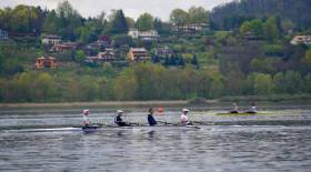 The Ireland Lightweight Four, seen here in training, is set for a C Final in the World Cup at Varese in Italy.