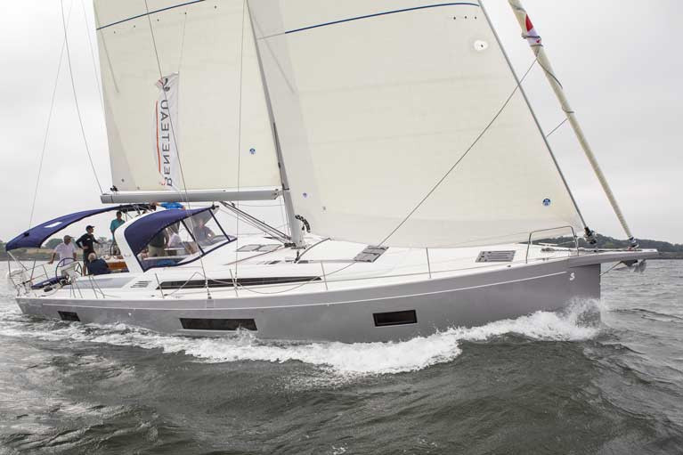 A Beneteau Oceanis 51.1 sailing in Narragansett Bay with North Sails 3Di sails