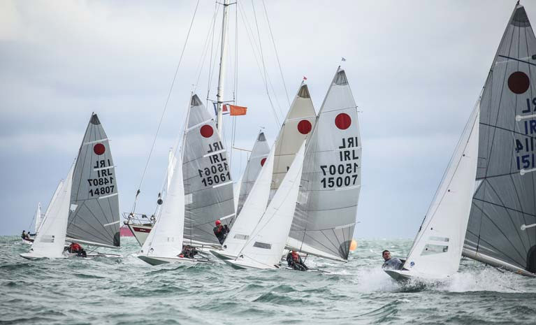 Four Fireballs from the Irish fleet contested last night's DBSC Tuesday race
