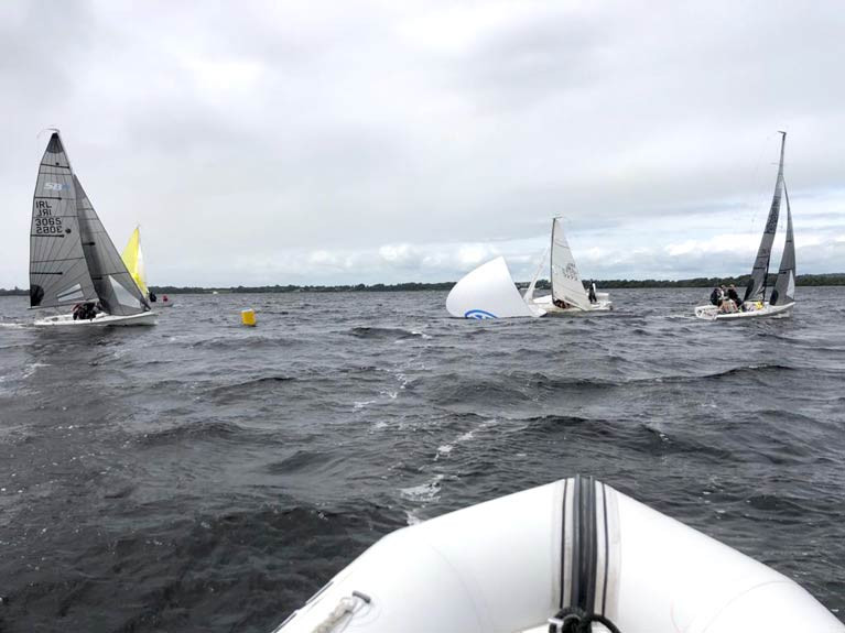 SB20 action on Lough Ree during the 250 Regatta