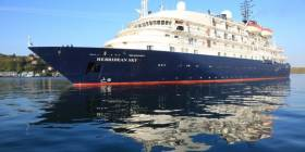Hebridean Sky, the newest addition to Noble Caledonia's high-end luxury small ship cruise fleet (incl river cruise vessels) is to make a third and final call to Waterford City Quays