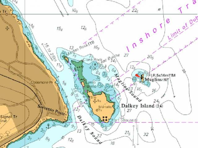 Map showing the location of Leac Buidhe Rock
