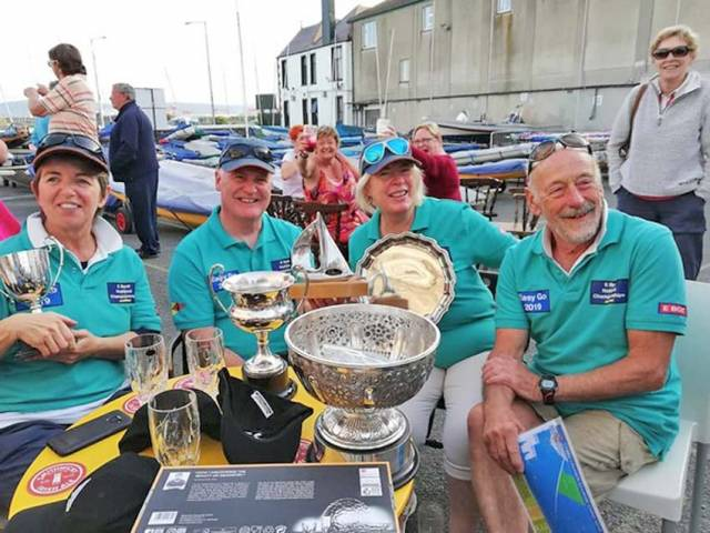 The crew of Easy Go, winners of the 2019 E-Boat Nationals