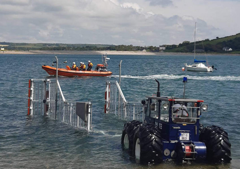 Youghal RNLI's inshore lifeboat and volunteer crew