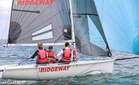 Team Ridgeway is third in the SB20s
