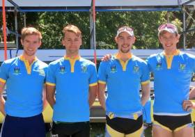 Shane Mulvaney, Andrew Goff, Shane O'Connell, David O'Malley of UCD