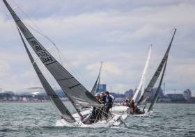 SB20 racing on Dublin Bay