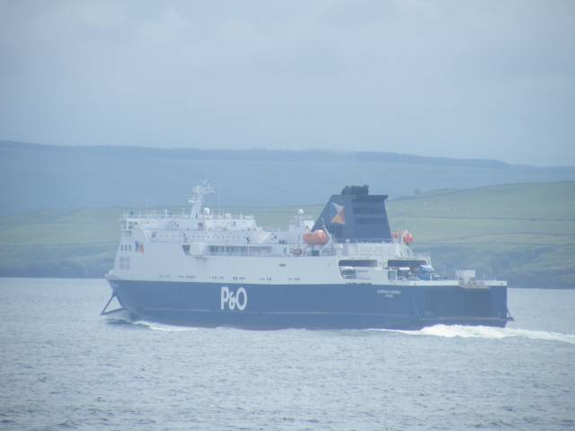 P&O Ferries European Causeway off the Scottish coast heading for Cairnryan