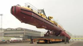 The SR2000 tidal turbine during assembly at the H&W shipyard in Belfast last year