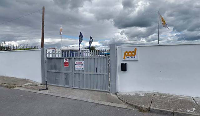 The Pod Marine Ltd premises at the West Pier, Dun Laoghaire