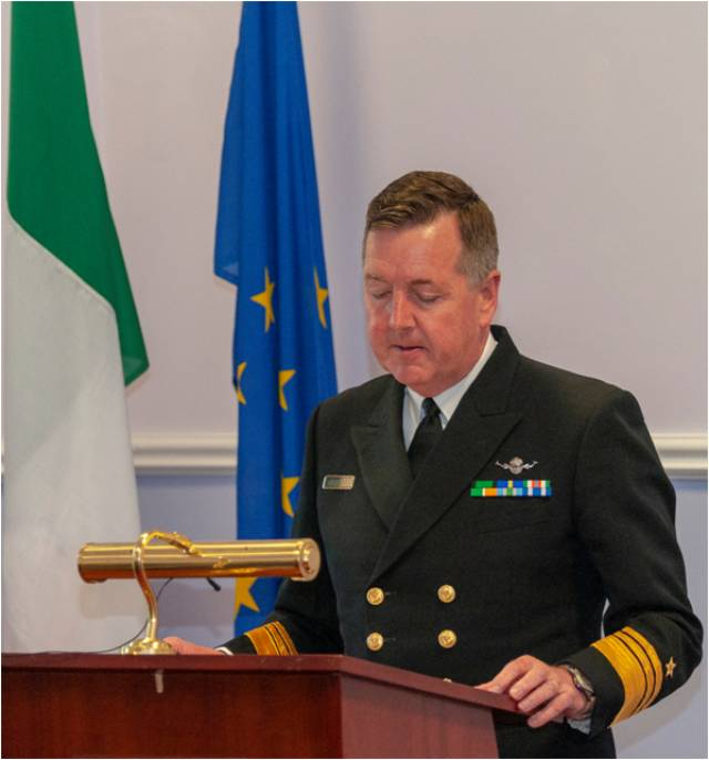 File photo of the Defence Forces chief of staff Vice Admiral Mark Mellett