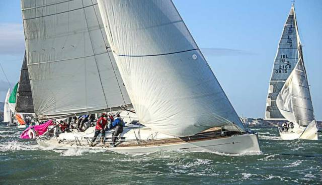 The overall winner Mermaid IV,  a Beneteau 50