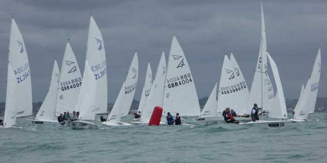 Flying Fifteen Worlds Underway, National Yacht Club's Apthorp & Green Sixth