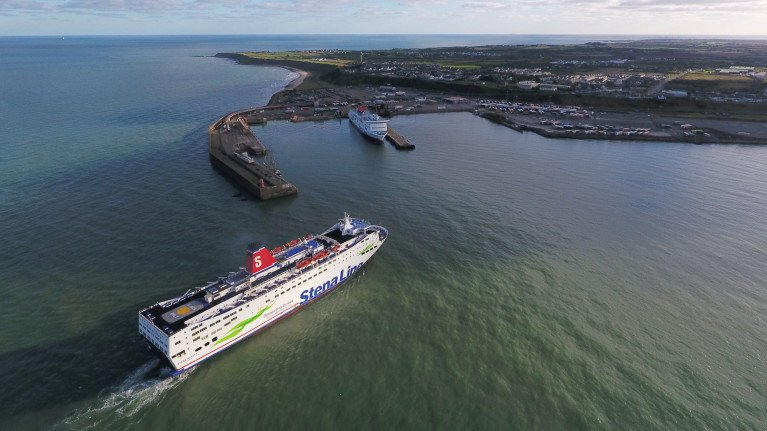 Irish hauliers have been bypassing ports in Wales because of Brexit, say industry leader. Above the Fishguard-Rosslare route serving Stena Europe, AFLOAT adds the ferry's name given post-Brexit is somewhat ironic. The ferry is seen arriving this morning to the 'Europort' in Co. Wexford from where a rapid rise in ro-ro direct routes/services to the continental mainland have arisen in recent months.
