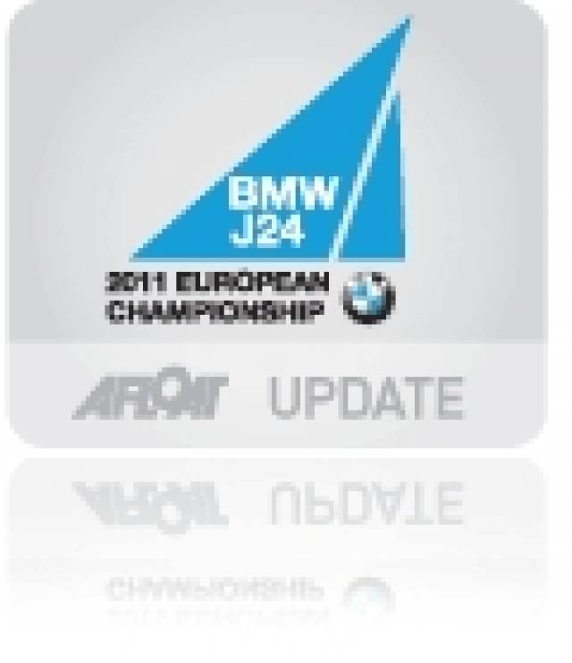 High Winds Scupper First Day at BMW J/24 Europeans