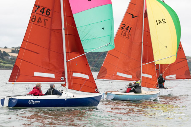 Squib racing at the recent Southern Championships in Cobh, Cork Harbour
