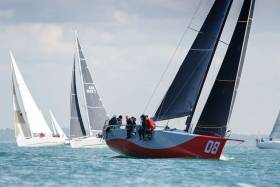 The overall winner of the Royal Ocean Racing Club's Myth of Malham Race was Farr 42 Redshift raced by Ed Fishwick with two Irish crewmen onboard