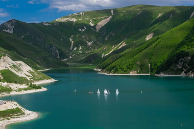 Kezenoy-am, which lies mostly in Chechnya, is also the deepest lake in the Caucasus Mountains
