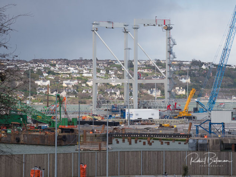 New cargo cranes at Port of Cork in March
