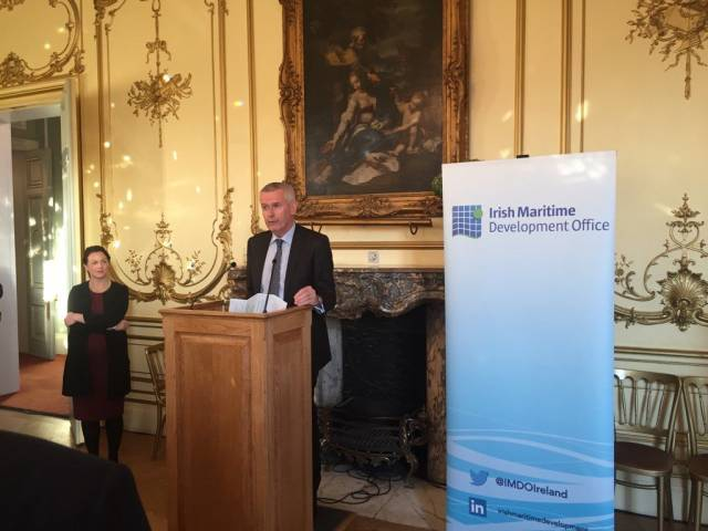 Adrian O'Neill, newly appointed Irish Ambassador to the UK launching the joint IMDO networking reception for colleagues and clients of LISW17