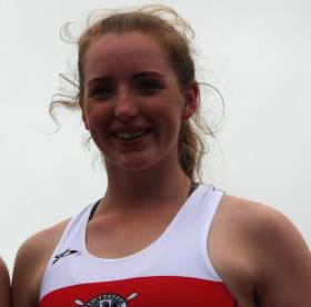 Emily Hegarty, the new junior single sculls champion of Ireland.