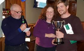 The IRC winning J24 Janx Spirit, Tadgh O'Loinsigh from Tralee Bay Sailing Club