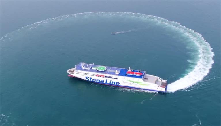 The new Stena Embla during sea trials. Stena Line is one of Europe's leading ferry companies with 36 vessels and 18 routes in Northern Europe. Stena Line is an important part of the European logistics network and develops new intermodal freight solutions by combining transport by rail, road and sea. Stena Line also plays an important role for tourism in Europe with its extensive passenger operations