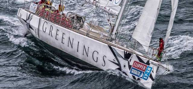 Greenings is expected in Porto tomorrow after yesterday's medevac of skipper David Hartshorn with a serious hand injury