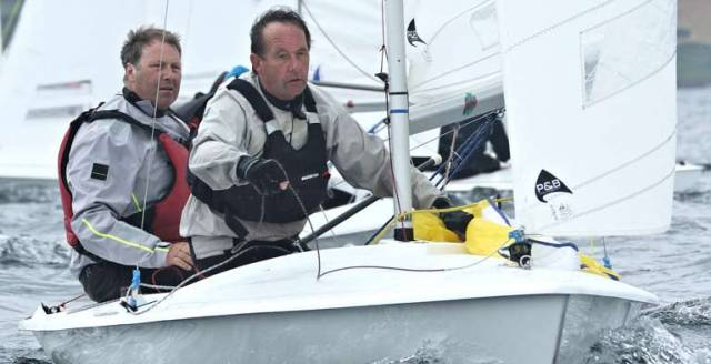 Roger Chamberlain and Charlie Horder of Strangford Lough Sailing Club