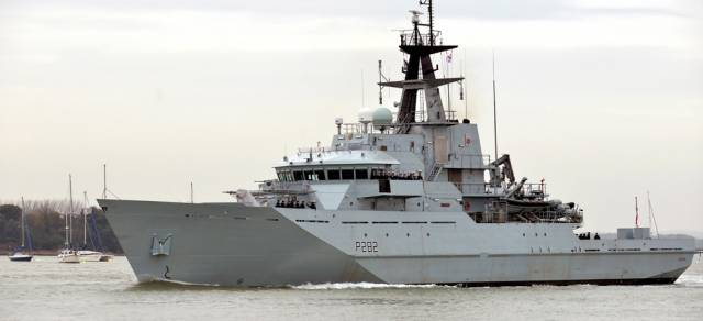 A UK Royal Navy River class patrol vessel HMS Severn is on a three-day visit to Dublin Port having berthed on the Liffey