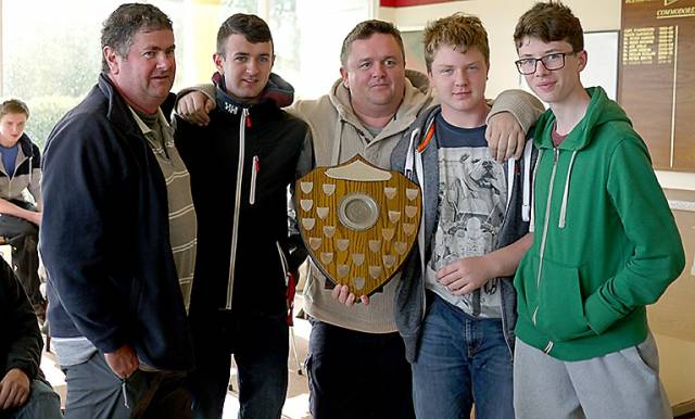 The GP14 Youghal Team were Travellers Trophy Winners at Blessington Sailing Club