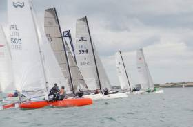 A Multihull start at the Festival of Speed weekend at Ballyholme Yacht Club