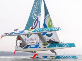 Musandam-Oman Sail left L'Orient on Wednesday to sail the MOD70 to the start of the Myth of Malham