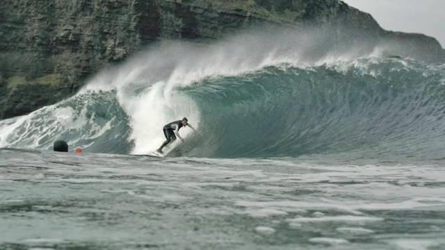 A still from new surfing documentary Between Land and Sea
