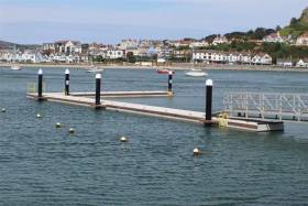 The new waiting jetty at Conwy Marina supplied by Banagher firm Inland and Marina Coastal Systems